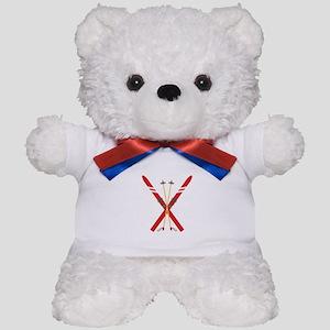 Vintage Ski Poles Teddy Bear