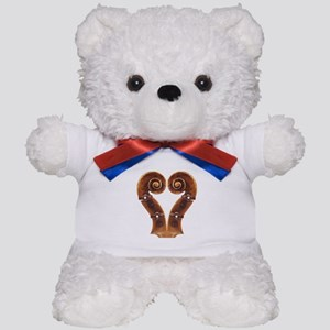 Violin Scroll Heart Teddy Bear