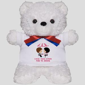 45th Anniversary Paris Couple Teddy Bear