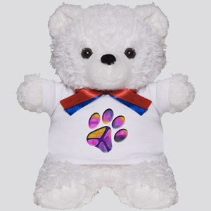 Peaceful Paw Print Teddy Bear
