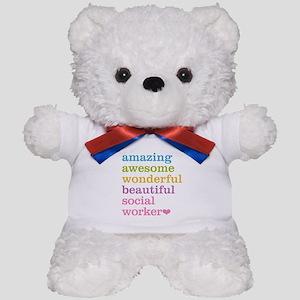 Amazing Social Worker Teddy Bear