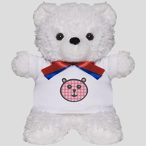 Pink Gingham Bear Teddy Bear