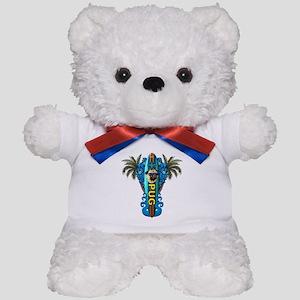 Beach Pug Teddy Bear