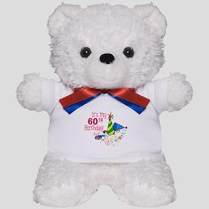 It's My 60th Birthday (Party Hats) Teddy Bear
