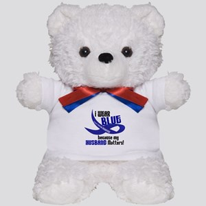 I Wear Blue For My Husband 33 CC Teddy Bear