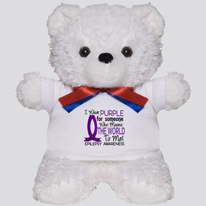 Means World To Me 1 Epilepsy Shirts Teddy Bear
