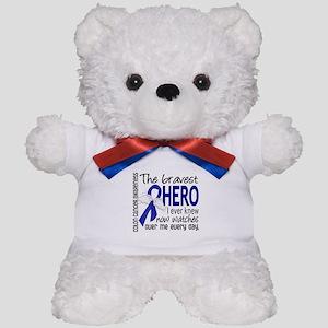 Bravest Hero I Knew Colon Cancer Teddy Bear