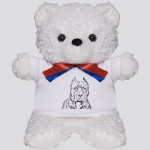 Pit Bull Head Teddy Bear