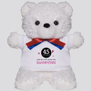 45th Anniversary Butterflies Teddy Bear
