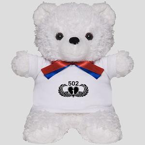 1-502 Black Heart Teddy Bear