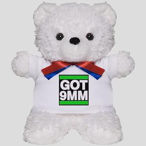 got 9mm green Teddy Bear