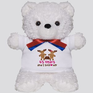 45th Anniversary Moose Teddy Bear