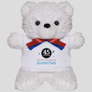45 Year Anniversary Butterfly Teddy Bear