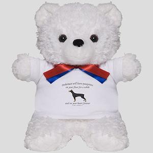 Doberman Pawprints Teddy Bear