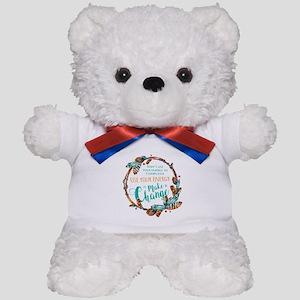 Make a Change Wreath Teddy Bear