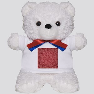 Paisley Damask Red Vintage Pattern Teddy Bear