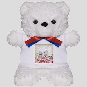 Abstract Floral Teddy Bear