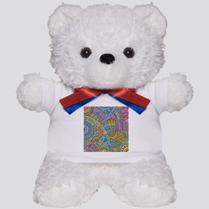 Colorful Abstract Teddy Bear