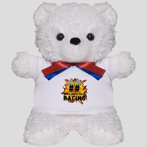 Flaming Racing Teddy Bear