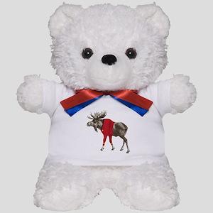 Moose Red Shirt Teddy Bear