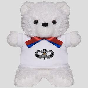 Combat Parachutist 1st -- B-W Teddy Bear