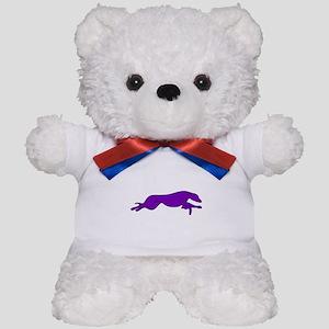 Greyhound Outline multi color Teddy Bear
