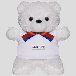 45th Birthday Vintage Teddy Bear