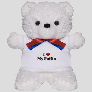 I Love My Puffin Teddy Bear