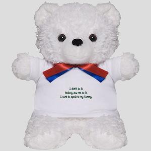 Want to Speak to Gammy Teddy Bear