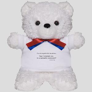 'Sarcastic Comment' Teddy Bear