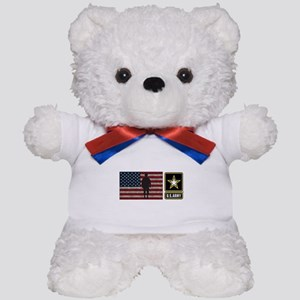 USArmy Gold Star Flag PP Teddy Bear