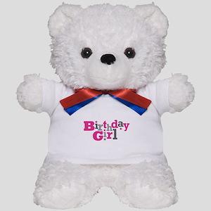 Pink Birthday Girl Star Teddy Bear