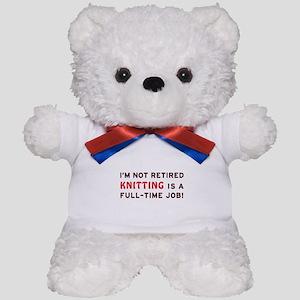 Retired Knitting Gag Gift Teddy Bear