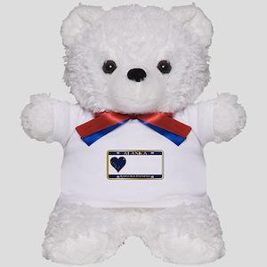 Alaska State License Plate Teddy Bear