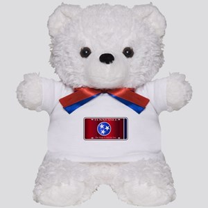 Tennessee State License Plate Flag Teddy Bear