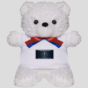 Indiana Flag License Plate Teddy Bear