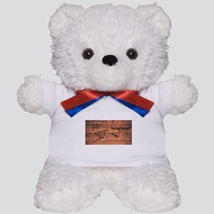 Alaska Map Brand Teddy Bear