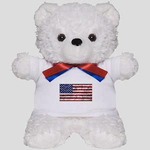 Grunge American Flag Teddy Bear