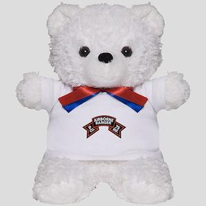 P Co 75th Infantry (Ranger) Scroll Teddy Bear