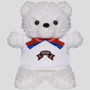 N Co 75th Infantry (Ranger) Scroll Teddy Bear