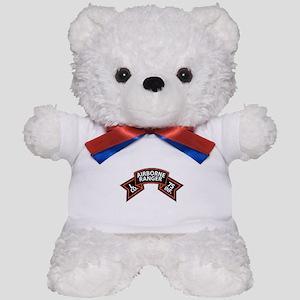 L Co 75th Infantry (Ranger) Scroll Teddy Bear