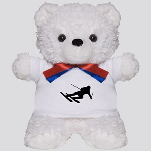 Black Downhill Ski Skiing Teddy Bear