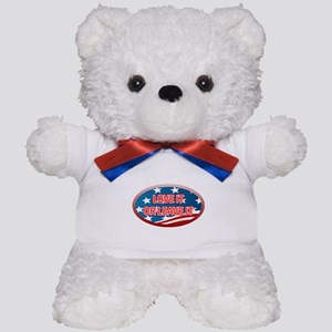 LOVE IT OR LEAVE IT! AMERICAN FLAG Teddy Bear