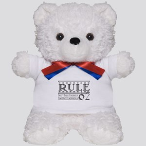 Rule 62 Alcoholism Saying Teddy Bear