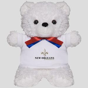 New Orleans Louisiana gold Teddy Bear