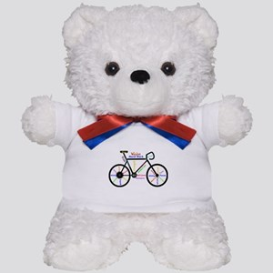 Bike made up of words to motivate Teddy Bear