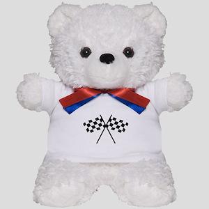 checker flag autorace Teddy Bear