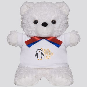 Crazy Penguin Lady Teddy Bear