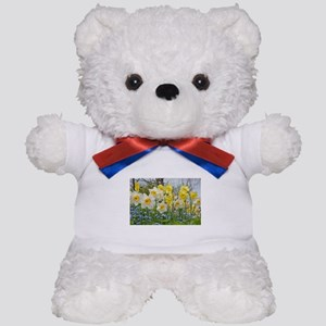 White and yellow daffodils Teddy Bear