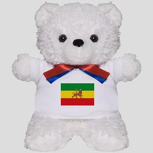 Ethiopia Flag Lion of Judah Rasta Reggae Teddy Bea